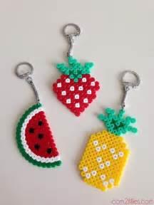 diy enfant un porte cl 233 en perle hama bricolage fruit