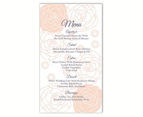 menu card templates in word wedding menu template diy menu card template editable word