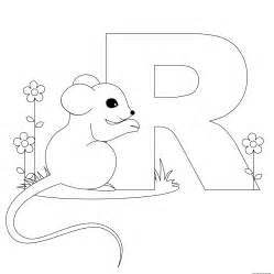 free coloring pages of letter r template