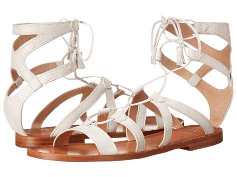 frye gladiator sandals frye ruth gladiator sandal in white lyst