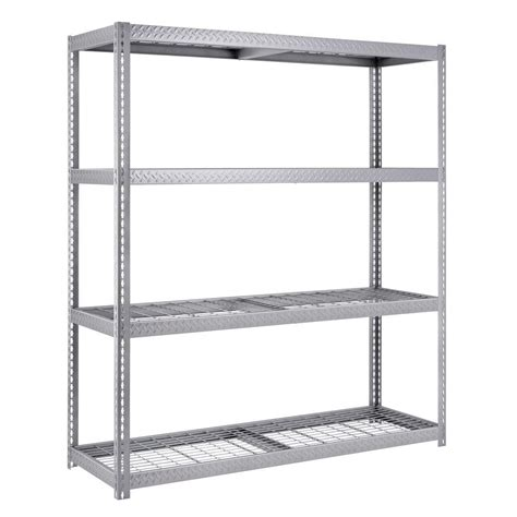 home shelving edsal 84 in h x 72 in w x 24 in d 4 shelf steel