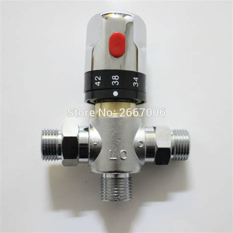 bathtub faucet temperature control free shipping new g1 2 thermostatic mixing valve faucet