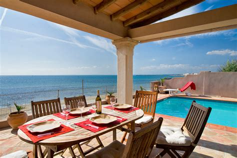 south  france beachfront holiday home  heated pool