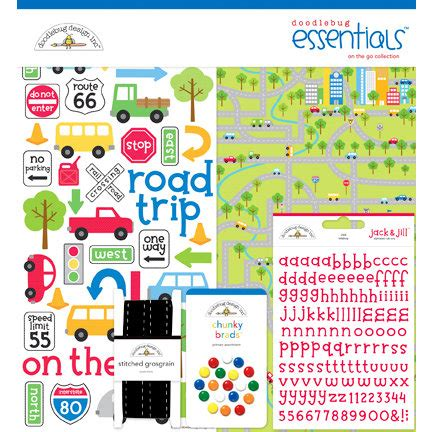 essentials kit layout doodlebug design on the go collection essentials kit
