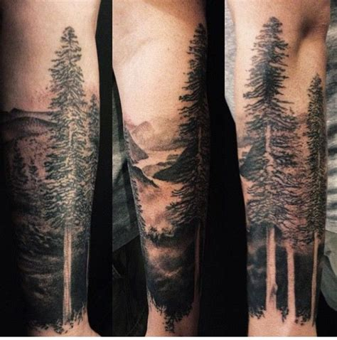 black and grey forest tattoo 20 nice forest tattoos for sleeve golfian com