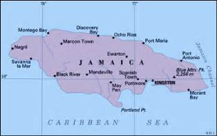 Jamaica On World Map by Worldpress Org Jamaica Profile