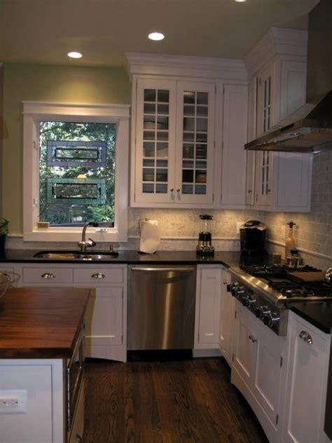 Kitchen Island Granite Countertop White Kitchen With Honed Granite And Mahogany White