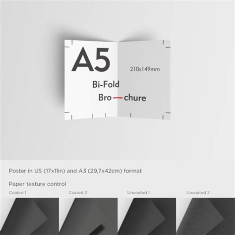 template for flyer free realistic a5 brochure mock up psd file free download