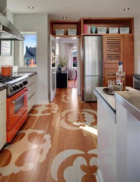 painted kitchen floor ideas stencils and creative painting ideas for wood floor decoration