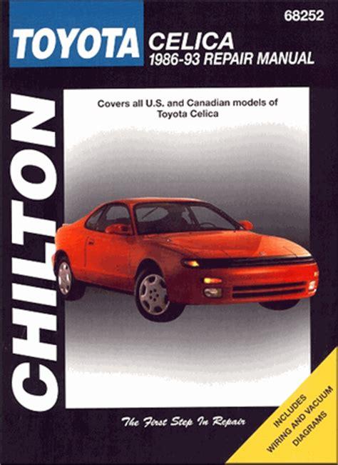 toyota celica repair workshop manual 1986 1993 chilton 68252