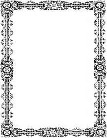 simple ornate frame portrait page frames old ornate