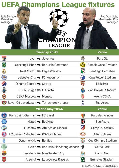 soccerpremier league 20162017 fixtures live resutsfixtures chions league 2017 draw semi final fixture schedule