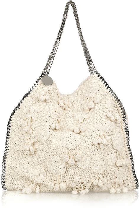 Stella Mccartney Felt And Plastic Bag by Lyst Stella Mccartney Falabella Large Crochet Bag In