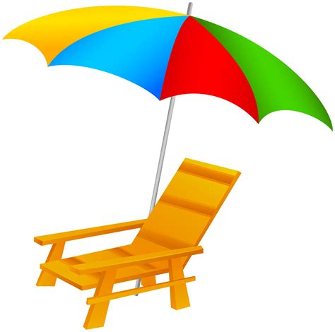 Patio Tableware Beach Umbrella And Chair Png Clip Art Best Web Clipart