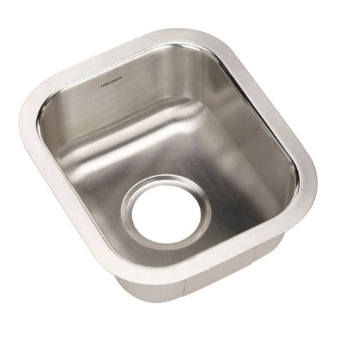 Stainless Steel Prep Sinks by Houzer Club Series Undermount Stainless Steel 13 In