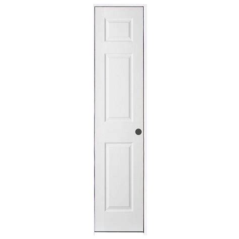 Jeld Wen 18 In X 80 In Woodgrain 6 Panel Primed Molded 18 Closet Door