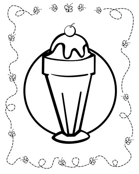 Sundae Dish Coloring Pages Coloring Pages Sundae Coloring Page