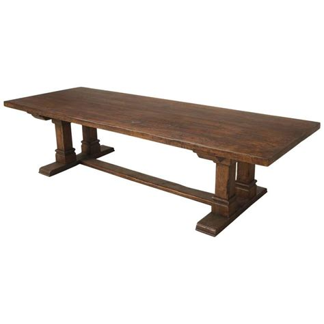 Farmhouse Trestle Dining Table Farmhouse Trestle Dining Table In Solid Oak At 1stdibs