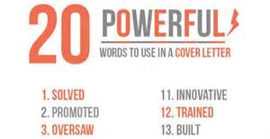 20 powerful words to use in a cover letter resume cover