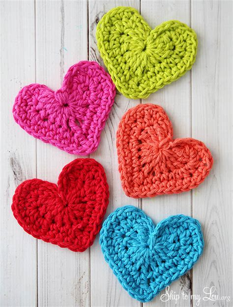 crochet hearts organized crafting on the go skip to my lou