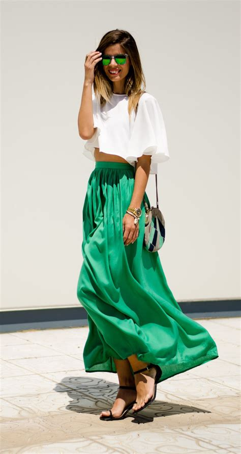 how to style a maxi skirt 2018 fashiongum