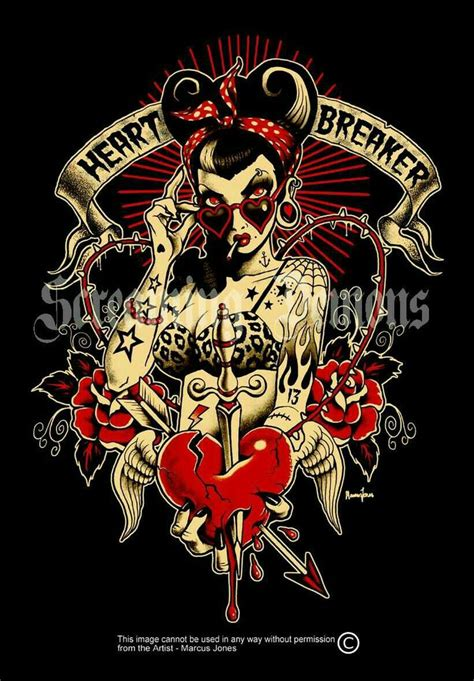 screamin demon tattoo 653 best rockabilly psychobilly images on