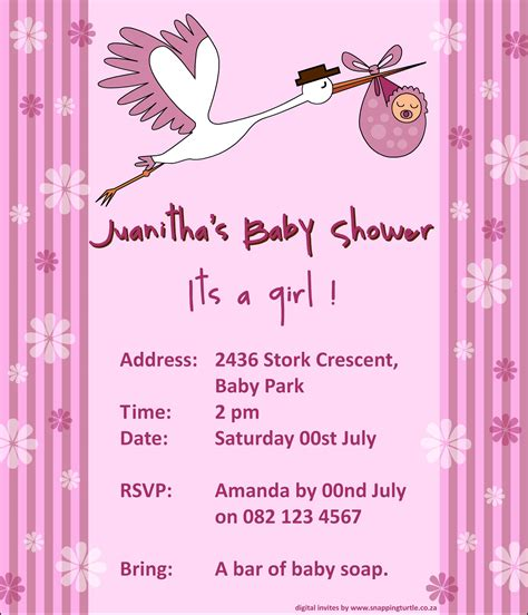 Electronic Baby Shower Invitations by Electronic Baby Shower Invitations Plumegiant