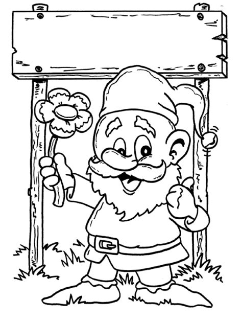 gnome coloring pages coloringpages1001 com
