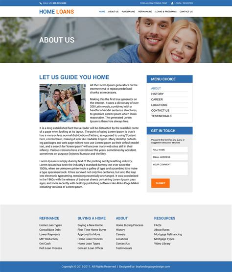 Download Responsive Home Loan Website Design Templates Loan Website Templates