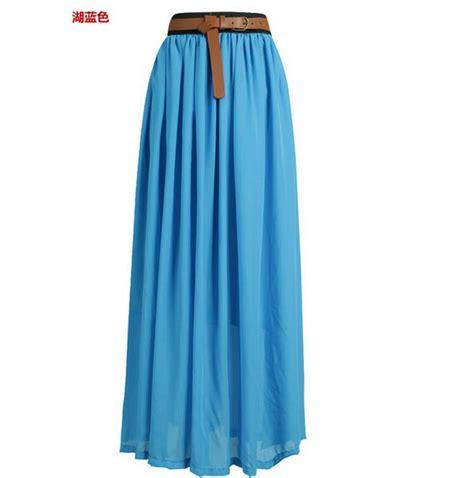 light blue chiffon maxi skirt dress