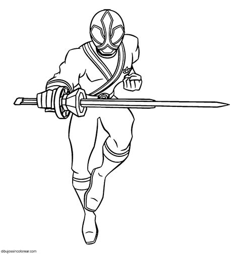 red samurai ranger coloring pages