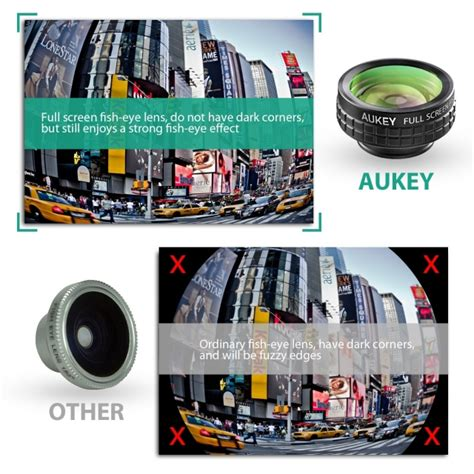 Aukey Lensa Fisheye Macro Smartphone Lens Gopro Clip Limited Aukey 3 In 1 Iphone Lens Kit On Sale For 9 99 Today Only