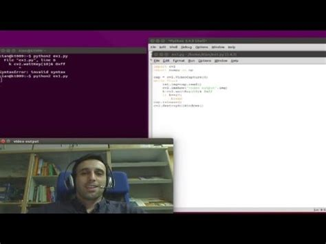 tutorial youtube capture opencv python capture video from camera tutorial youtube