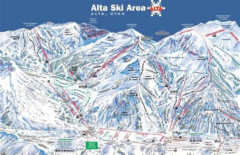 alta trail map alta piste map trail map