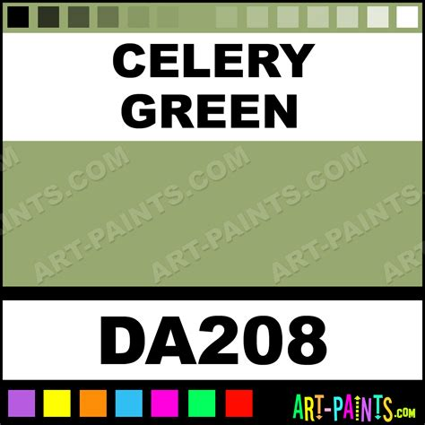 celery green americana acrylic paints da208 celery green paint celery green color decoart