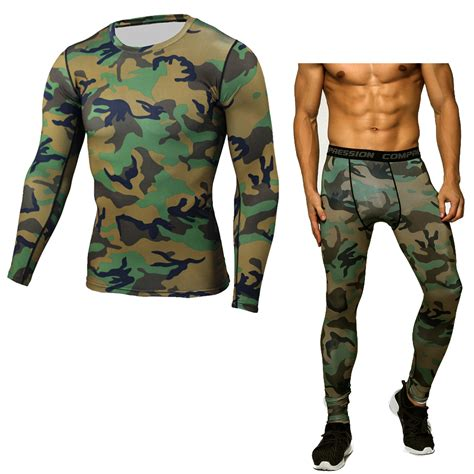 New S Camo Cycling Tops Compression Sleeve T Shirt Sport compression picture more detailed picture about new 2017 fitness sets camouflage