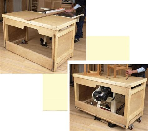 table saw for woodworking space saving duty tablesaw workbench woodworking