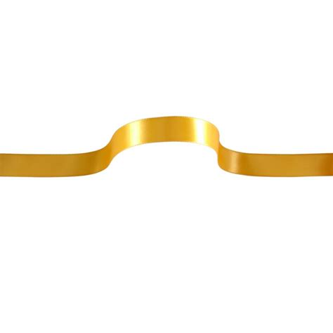 upholstery ribbon 5 8 quot offray single face satin ribbon yellow gold