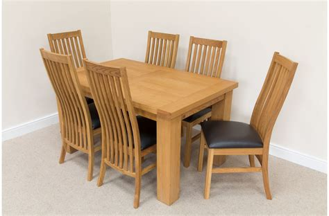 dining table with 6 chairs solid oak extending dining table and 6 chairs on