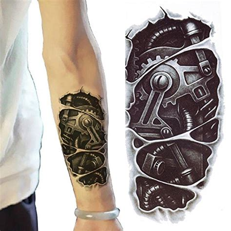 henna tattoo stickers amazon 3d new s half sleeve arm temporary totem