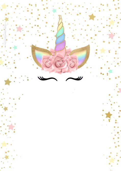 arts da tata template personalizado doa o tumblr convite unicornio gratis fazendo a nossa festa