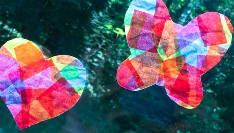 Tissue Paper Suncatcher Craft - tissue paper suncatchers titus