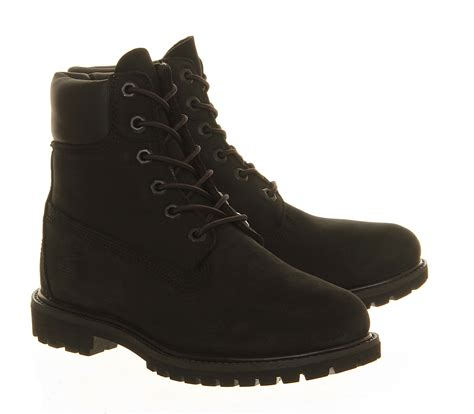 black timberland boots for timberland premium 6 boots in black lyst