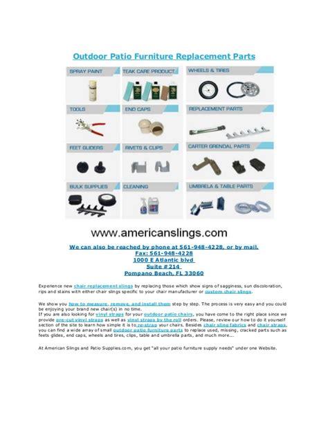 Patio Chair Repair Parts Replacement Slings And Parts Outdoor Furniture Replacement Parts