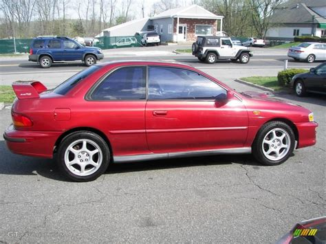 subaru coupe rs 2000 sedona red pearl subaru impreza 2 5 rs coupe 8195581