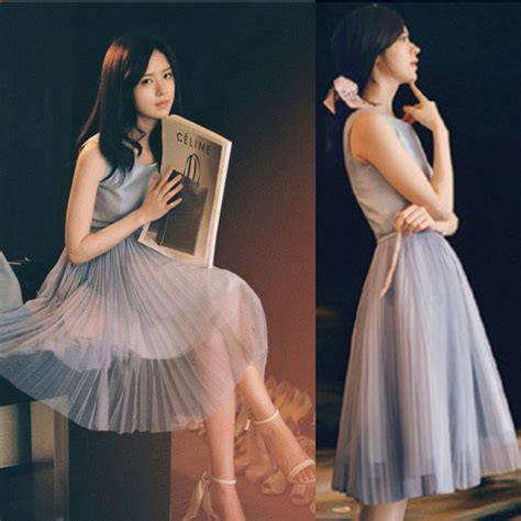 Dress Korean Style Sleeveless Chiffon Dress new korean style sleeveless chiffon maxi dress pleated sundress ebay