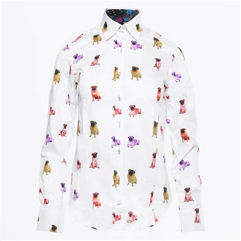 claudio lugli pug shirt claudio lugli pug print shirt mr mrs stitch