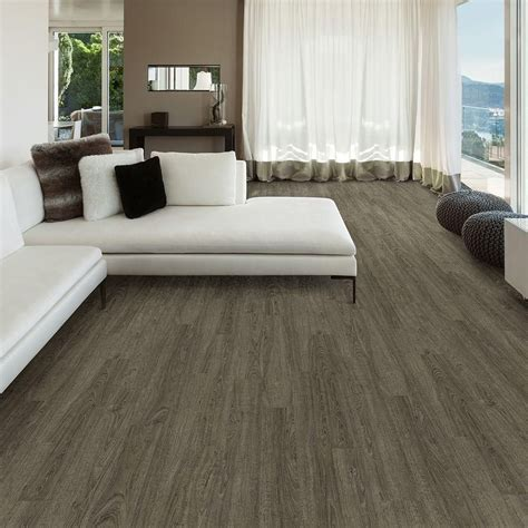 trafficmaster 6 in x 36 in metal gray oak luxury