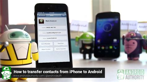 how to transfer iphone contacts to android how to transfer contacts from iphone to android
