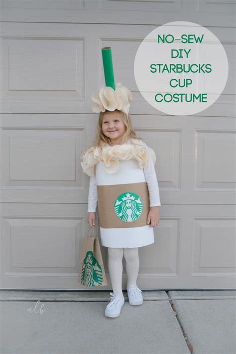 How To Make Paper Costumes - andrea lebeau no sew diy starbucks cup costume